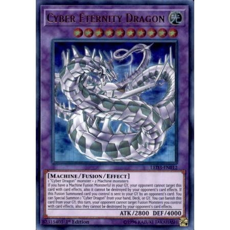 - YuGiOh White Dragon Abyss Cyber Eternity Dragon LED3-EN012