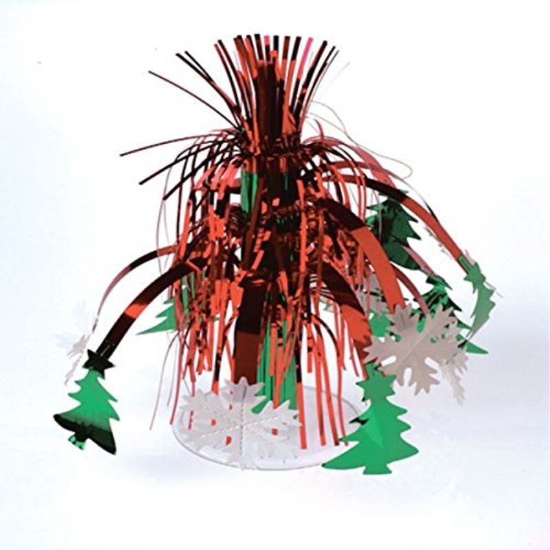 US Toy Holiday Christmas Dangler 14.5 in Table Centerpiece, Red Green