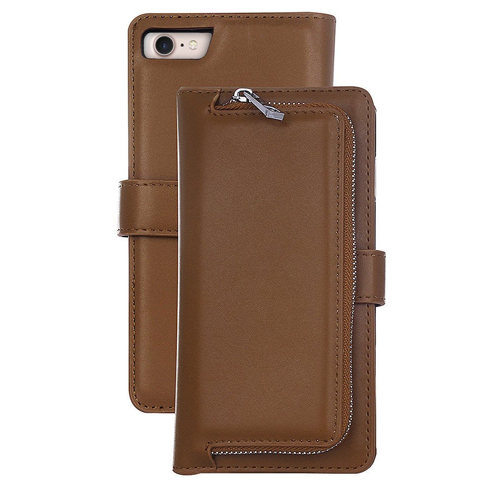 2 IN 1 Leather Wallet Case with Removable Back Cover for iPhone 7
