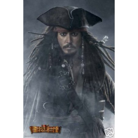 Pirates Of The Caribbean Poster - Foggy Jack Sparrow New 24x36 Captain Jack Sparrow Poster