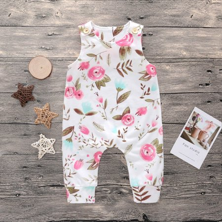 Toddler Infant Baby Outfits Floral Girl Costume Bodysuit Romper Jumpsuit Clothes - image 1 of 5