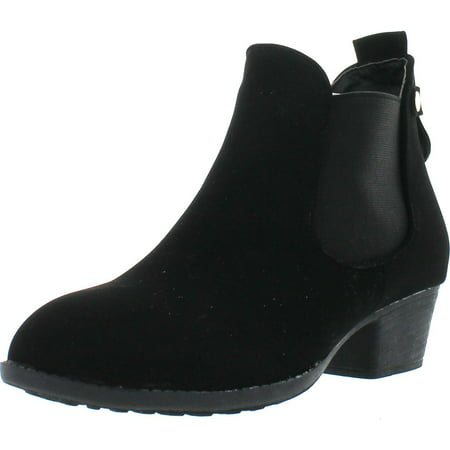 Top Moda CL-5 Women's Round Toe Chunky Heal Chelsea Boots ()