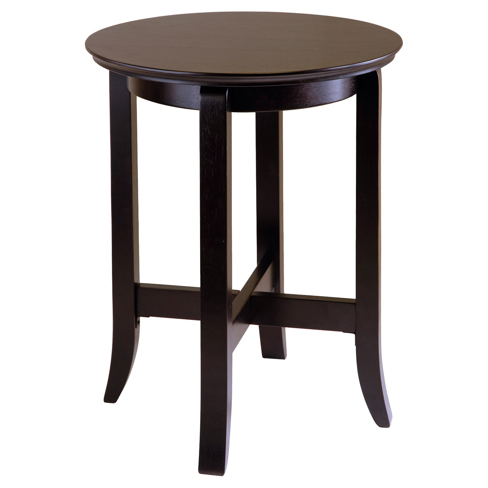 Winsome Wood Toby Round Accent Table, Espresso Finish