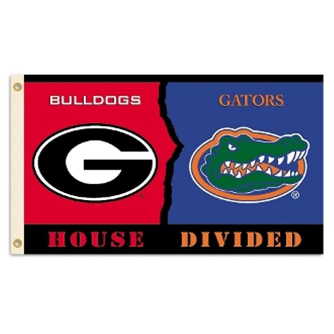 BSI PRODUCTS 95997 Georgia - Florida 3 Ft.  X 5 Ft.  Flag with Grommets - Rivalry House Divided