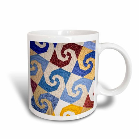 3dRose West Virginia, Beckley. Tamarac, quilt textile - US49 WBI0014 - Walter Bibikow, Ceramic Mug, 15-ounce