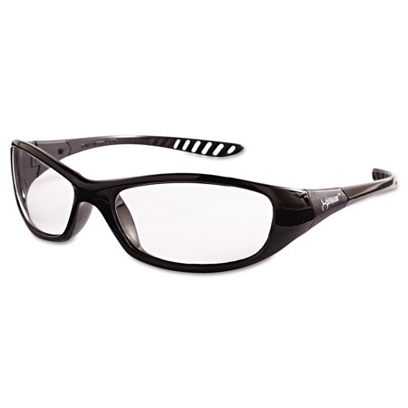 Jackson Safety* V40 HellRaiser Safety Glasses, Black Frame, Clear (Series Safety Glasses Black Lens)