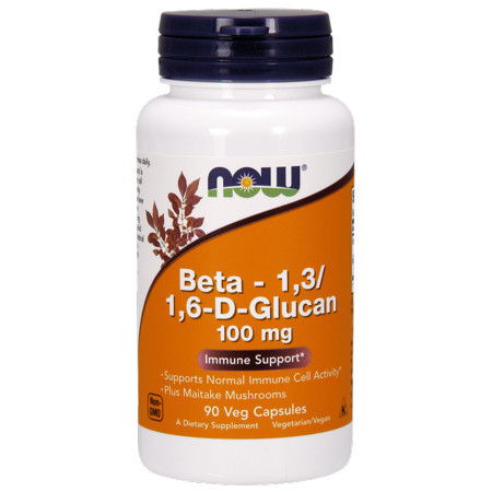 Now Beta   1 3 1 6 D Glucan 100 Mg Vegetarian Capsules  90 Ct