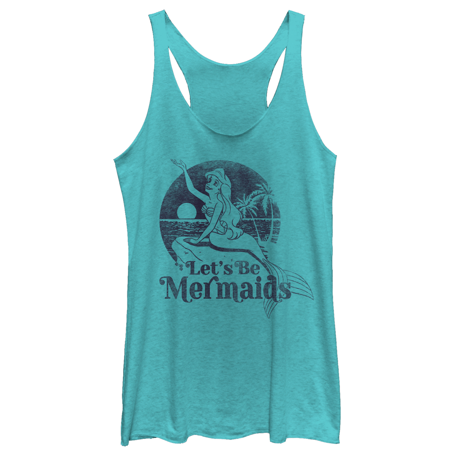 The Little Mermaid Women's Let's Be Racerback Tank Top