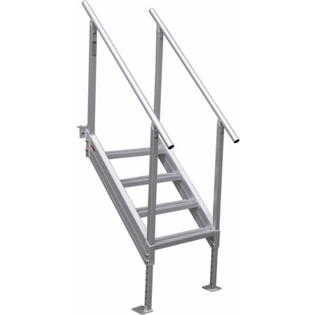 Aluminum 12 Volt Outdoor Step - Extreme Max 3005.3843 Universal Mount Aluminum Dock Stair - 4-Step