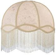"Meyda Tiffany 17361 16.5"" W Fabric & Fringe Ivory Dome Replacement Shade"