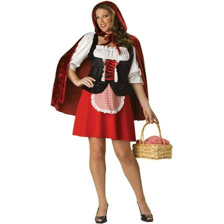 Red Riding Hood Adult Halloween Costume - Big Lots Halloween 2017