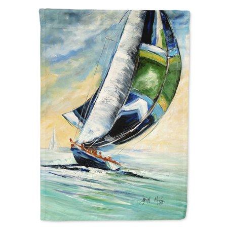 Cruising the Coast Sailboats Garden Flag