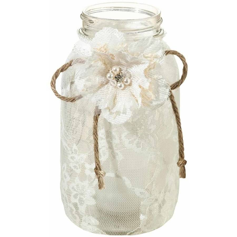 Set of 4 Large Lace Jar Covers