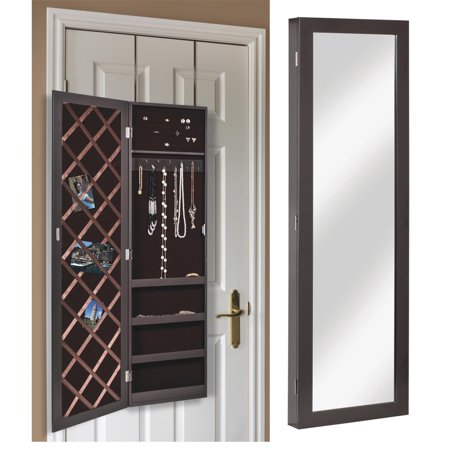 Erias Home Designs Jewelry Armoire Wall Mirror Walmart Com