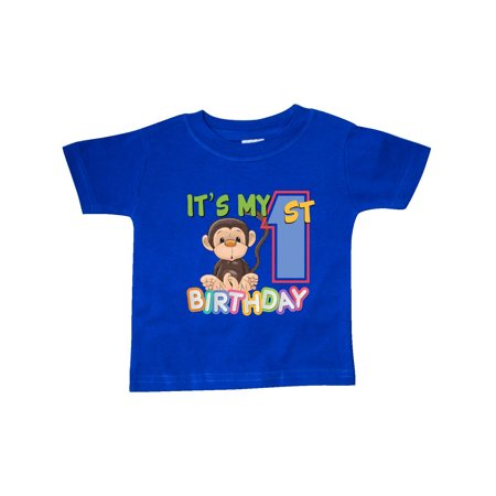 1st T-shirt - Monkey First Birthday Baby T-Shirt