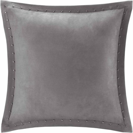 Home Essence Hayes Stud Trim Microsuede Square Pillow