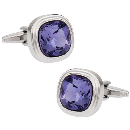 Swarovski Tanzanite Blue Purple Crystal Cufflinks By Cuff Daddy