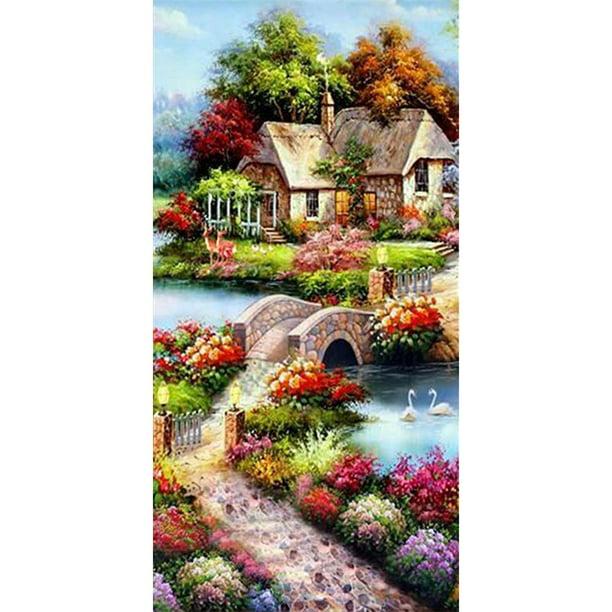 5D DIY Full Drill Diamond Painting Landscape Cross Stitch Embroidery Kits Decor