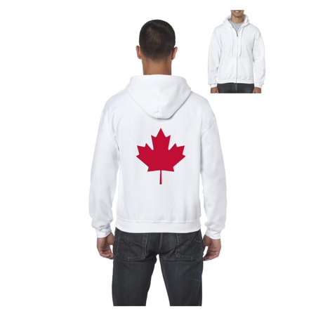 Canada Maple Leaf Canadian State Flag Men's Full-Zip Hooded