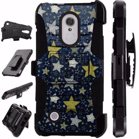 Compatible HMD Nokia 3.1 Plus | Feller Case Armor Hybrid Phone Cover LuxGuard Holster (Night Stars) - Night Armor