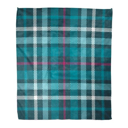 ASHLEIGH Flannel Throw Blanket Pink Pattern Plaid Pattern Printing Check Patten in Teal Green Aqua White and Amaranth Purple Christmas 58x80 Inch Lightweight Cozy Plush Fluffy Warm Fuzzy (Hunter Green Blanket)