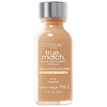 LOréal Paris True Match Super-Blendable Foundation Makeup Golden Beige - 1 fl oz
