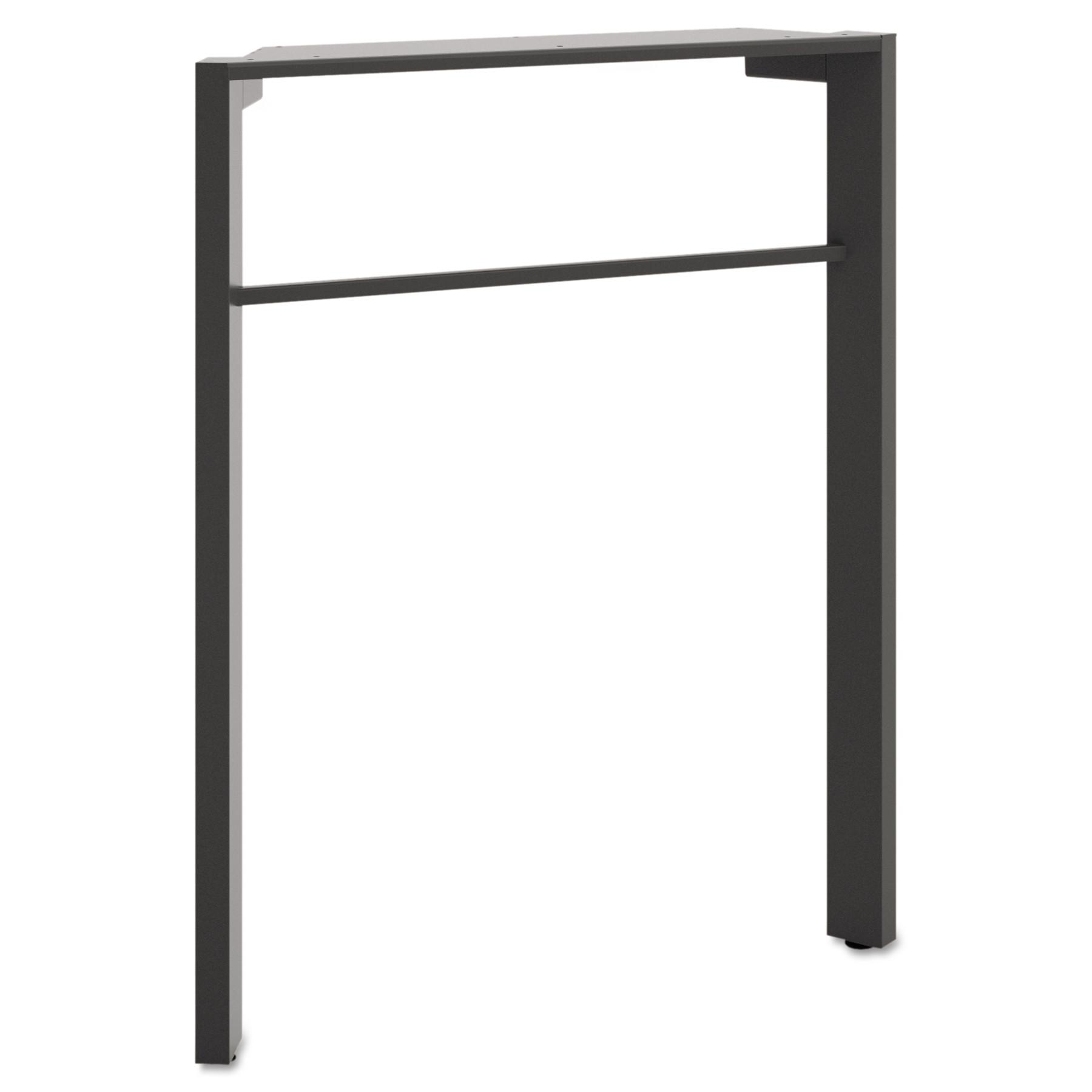 basyx Manage Series Desk Leg, Steel, 2-1/4w x 23-1/2d x 28-1/2h, Ash
