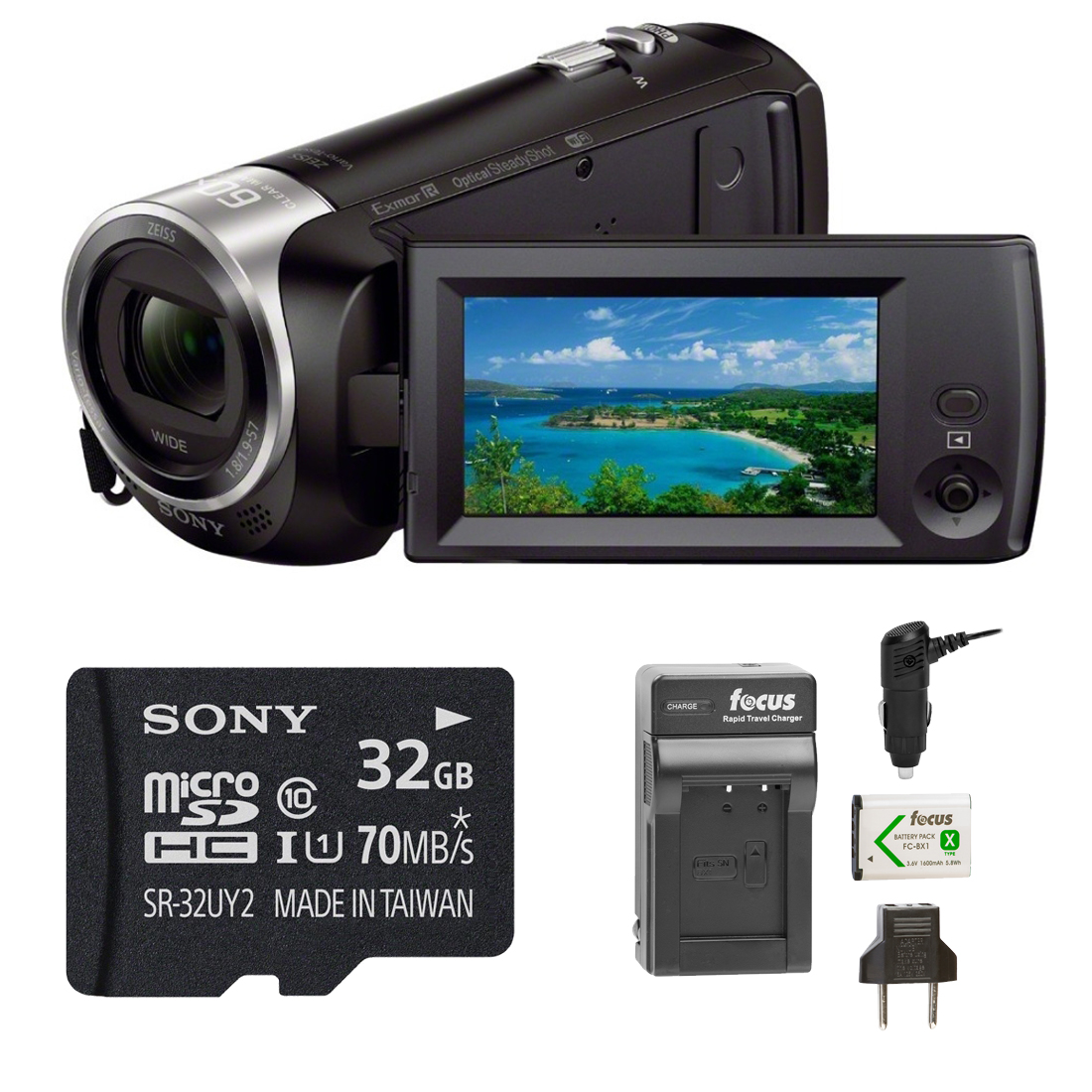 Sony HD Video Recording HDRCX440 Handycam Camcorder Bundle