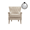 Better Homes & Gardens Accent Chair, Living Room & Home Office, Beige