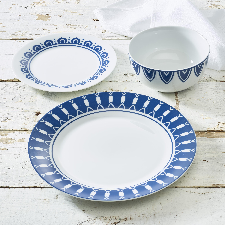 Walmart Housewares: Collection 12-Piece Porcelain Dinnerware Set, Walmart