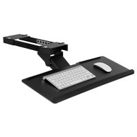 Mount-It! Under Desk Computer Keyboard and Mouse Tray | Ergonomic Keyboard Drawer with Gel Wrist Pad | Black