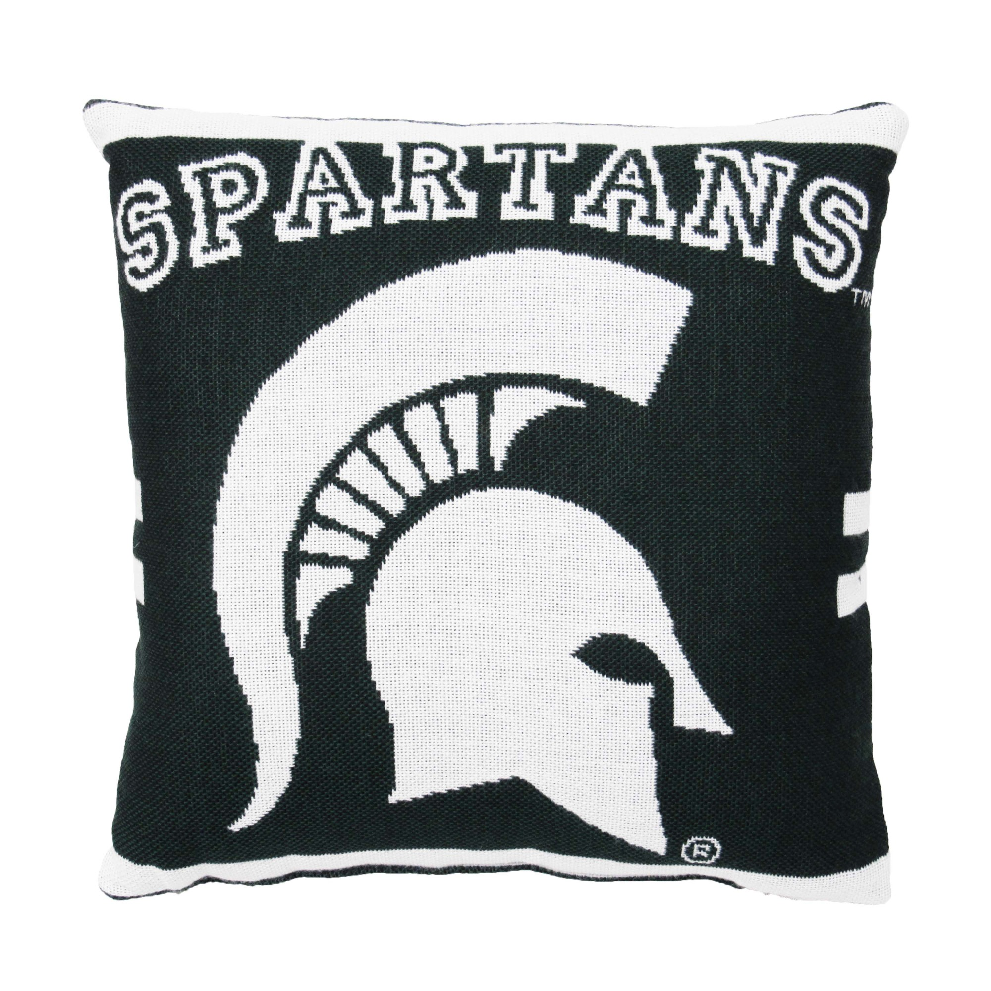 "NCAA Michigan State 20"" Square Decorative Woven Pillow by The Northwest Company"