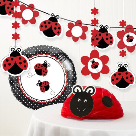 The Party Aisle Ladybug Fancy Birthday Party Decoration Kit for $<!---->