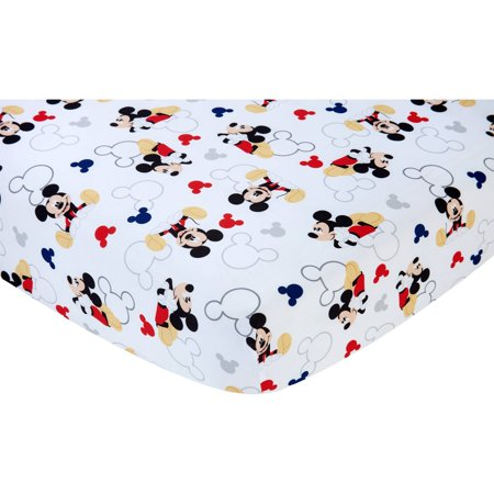 6fae83592d720 Disney Let's Go Mickey II Crib Sheet - Walmart.com