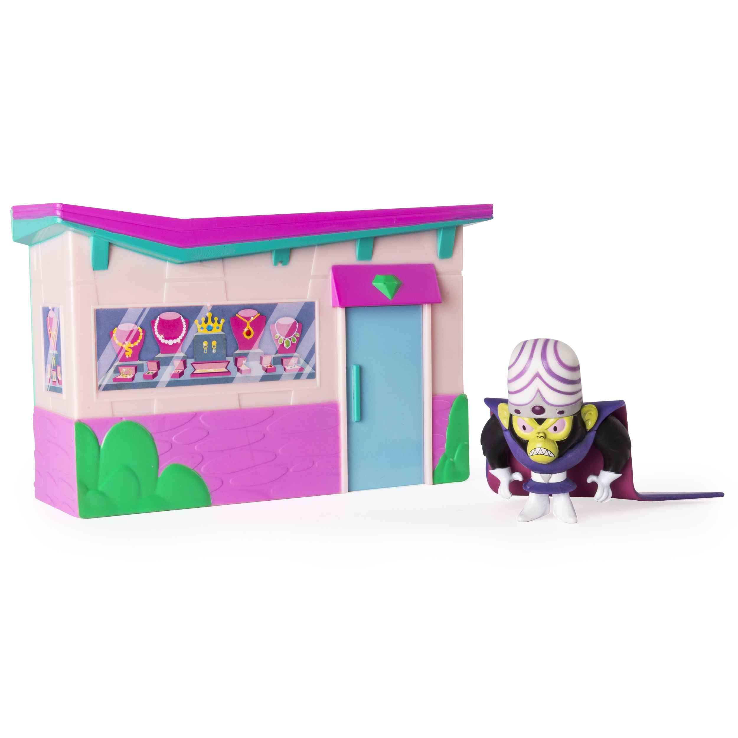 The Powerpuff Girls, Mojo Jojo Jewelry Store Heist Playset, by Spin Master