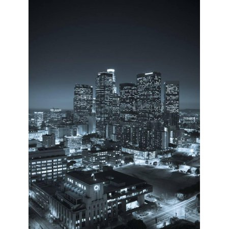 California, Los Angeles, Skyline of Downtown Los Angeles, USA Print Wall Art By Michele - Downtown Los Angeles California Art