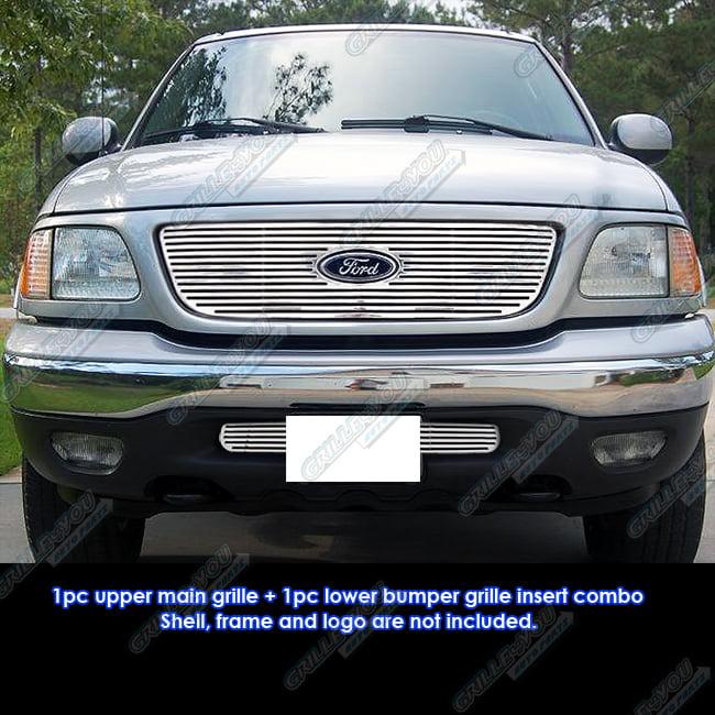 Custom Fits 99-03 Ford F-150 2WD Honey Comb Perimeter Grill Combo