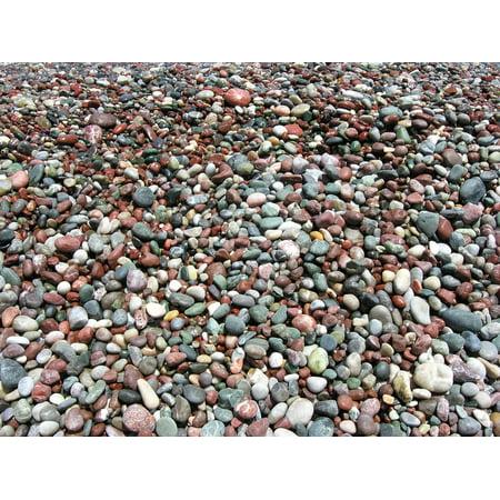 Seaside Rocks - LAMINATED POSTER Seaside Nature Pebbles Rock Texture Beach Poster 24x16 Decal