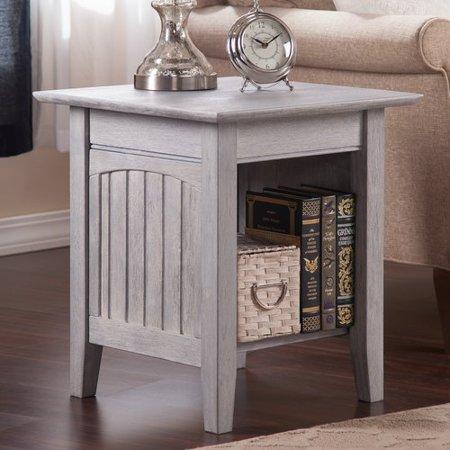 highland dunes glenni solid wood end table with storage. Black Bedroom Furniture Sets. Home Design Ideas
