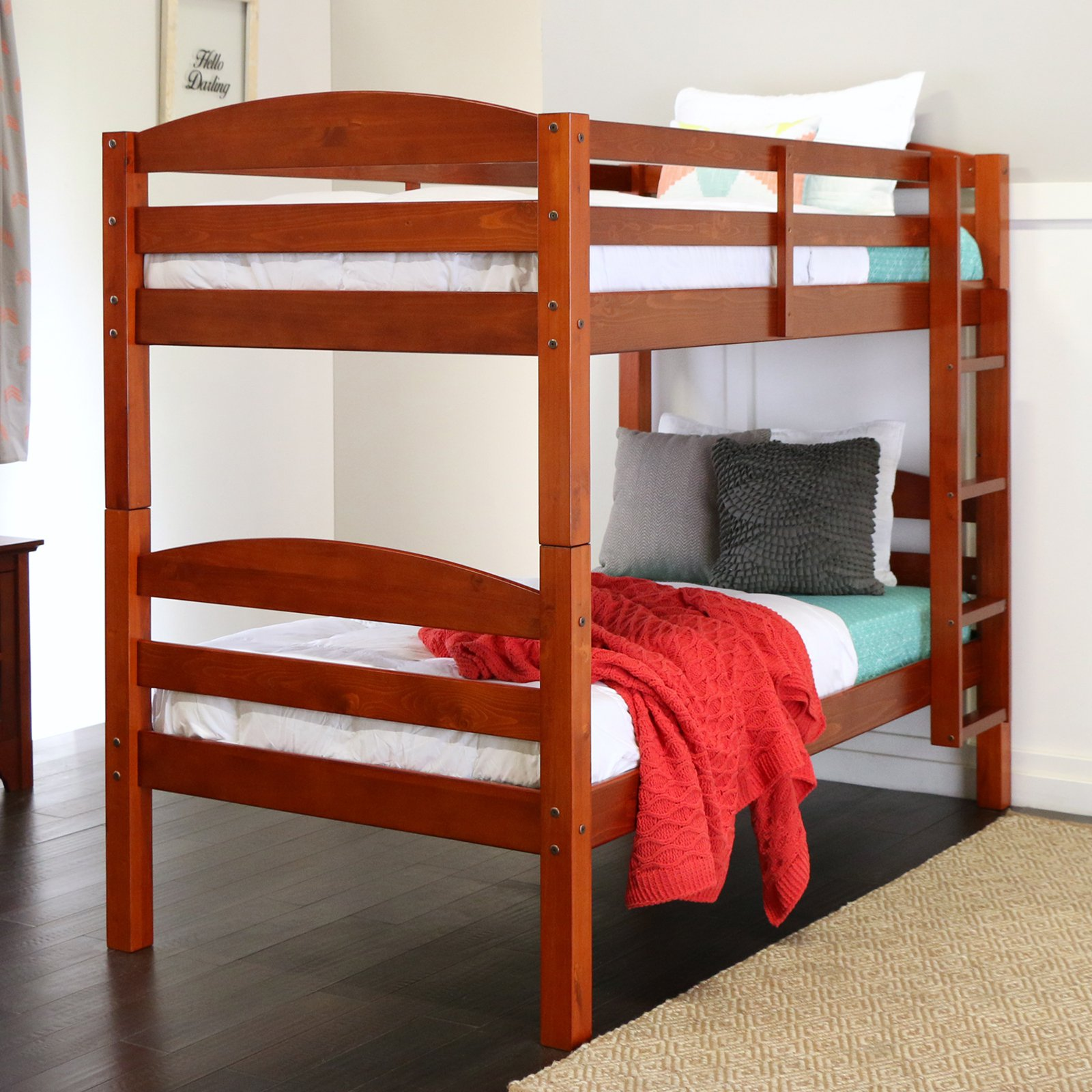 Sunrise Twin Over Twin Bunk Bed - Cherry