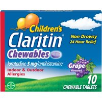 Children's Claritin 24 Hour Allergy Grape Chewable Tablet, 5mg, 10Ct