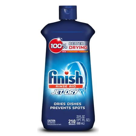 Finish Jet-Dry Rinse Aid, 23oz, Dishwasher Rinse Agent & Drying