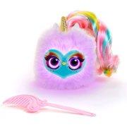 Pomsies Lumies Let's Learn Colors Sparkle Rush Preschool Kids Plush Unicorn Interactive Toy