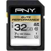 PNY 32GB Elite Performance SDHC 95MB/s Memory Card
