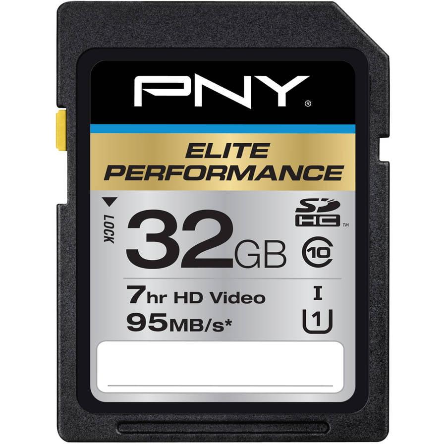 PNY 32GB Elite Performance SDHC 95MB/s Memory Card