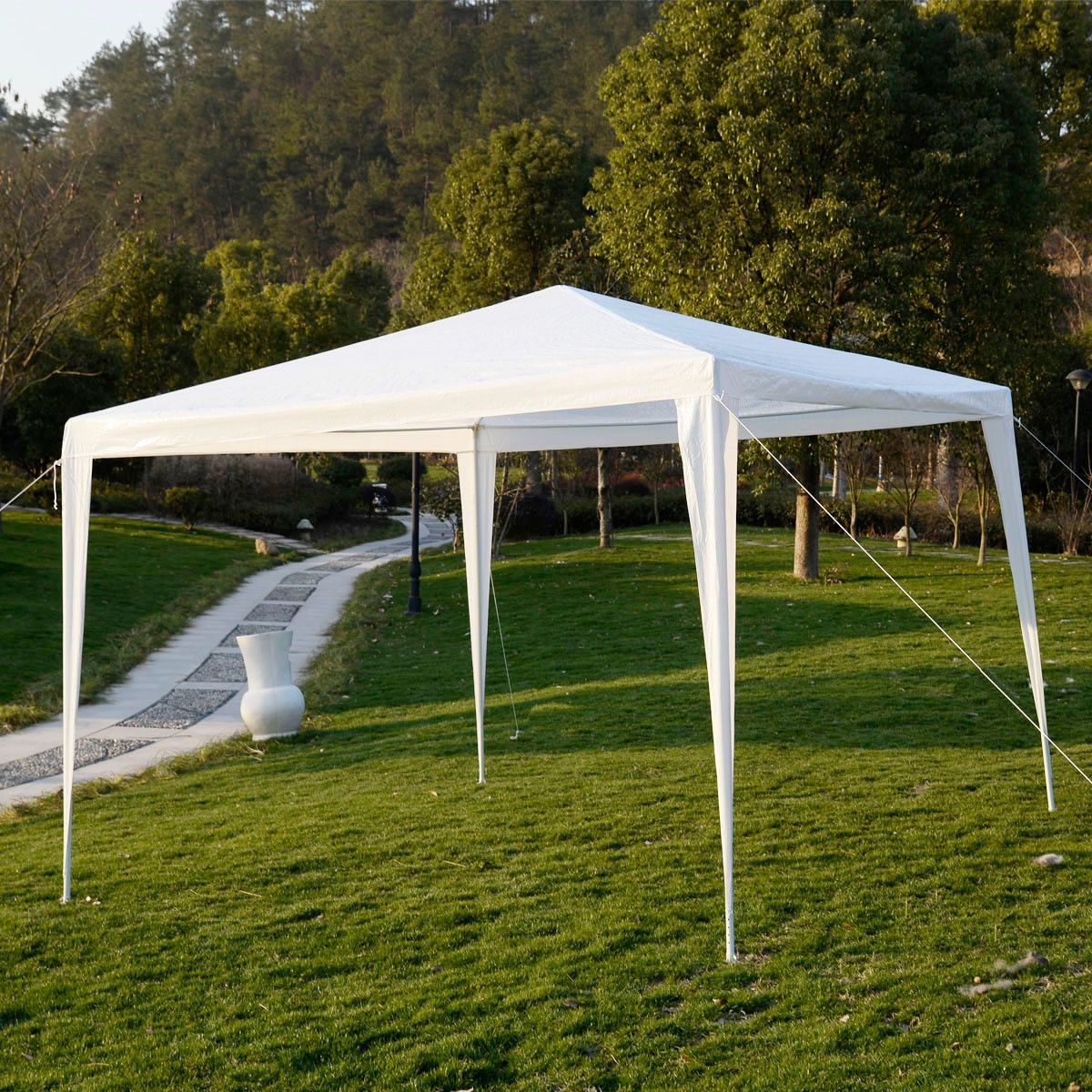 Apontus Outdoor Tent Canopy Gazebo, 10 x 10 (White) - Walmart.com