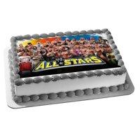World Wrestling Entertainment Roman Reigns Jimmy Snuka Mr. Perfect Edible Cake Topper Image