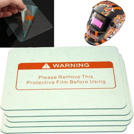 5pcs 4.5'' x 3.5'' Clear Safe Welding Cover Lens Splash Protect Welding Helmet Clear Vision Welding Helmet