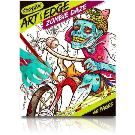 crayola art with edge zombie daze coloring book 40 pages - Walmart Coloring Books