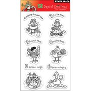 """Penny Black Clear Stamps 5"""" x 7.5"""" Sheet, 12 Days Of Christmas"""